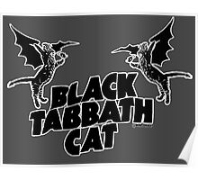 black tabbath cat Poster