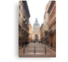 Streets of Budapest Canvas Print