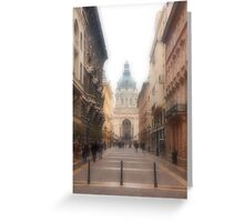 Streets of Budapest Greeting Card