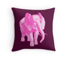 Big Pink Elephant Throw Pillow