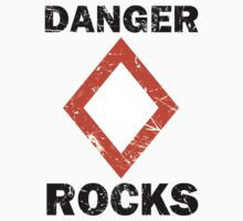 Danger Rocks Nautical Signage One Piece - Short Sleeve