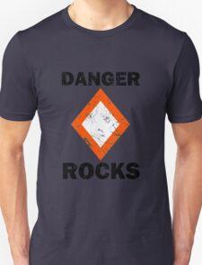 Danger Rocks Nautical Signage Unisex T-Shirt