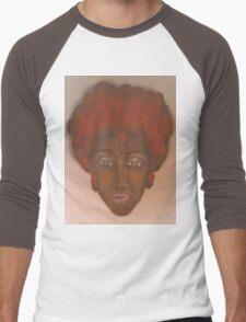 Black Men's Baseball ¾ T-Shirt