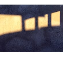 Marching Light Spaces (or maybe Advancing Shadow Spaces) Photographic Print