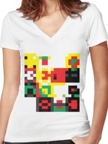 ROBO Women's Fitted V-Neck T-Shirt