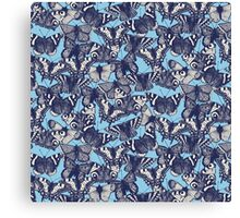 butterfly sky blue Canvas Print