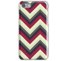 Modern Red Chevrons iPhone Case/Skin