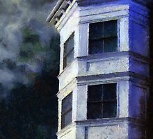 Ominous Night at Hexagon House by RC deWinter