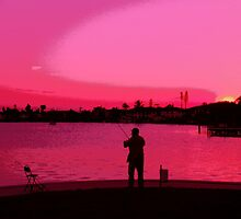 Fishing Day Ends by florene welebny