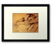 Pencil Study Framed Print