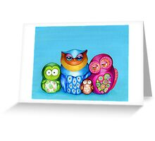 Owl Family Portrait Greeting Card