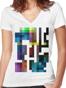 TEKO Women's Fitted V-Neck T-Shirt