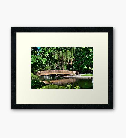 Bridge HDR Framed Print