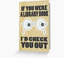 Library Book Greeting Card