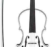 Violin Silhouette by AnnArtshock