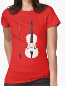 Violin Silhouette Womens Fitted T-Shirt