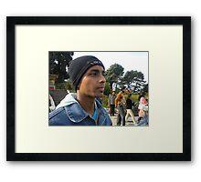cool dude Framed Print