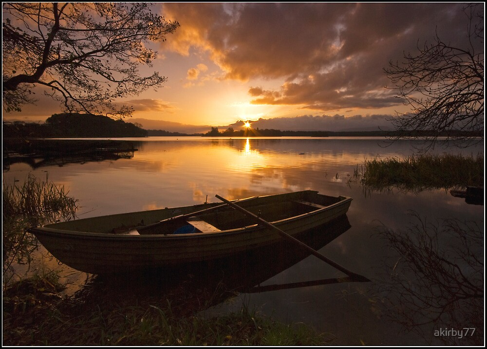 Lake of Menteith sunrise by akirby77