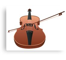Violin with Bow Canvas Print
