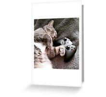 Gaming Catnap Greeting Card