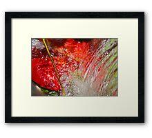 Water flow Framed Print