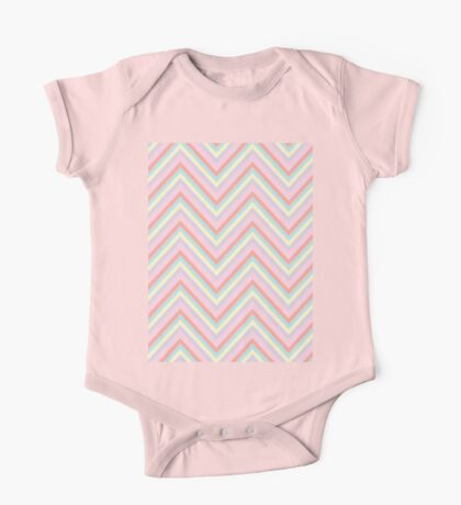 Baby Doll Chevrons One Piece - Short Sleeve