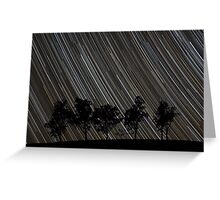 Stars Rising Over the Trees Greeting Card
