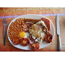 April fry-up Photographic Print