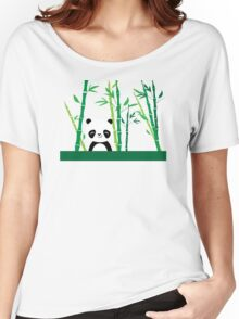Cute: Panda with Bamboo Women's Relaxed Fit T-Shirt