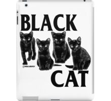 black cat flag iPad Case/Skin