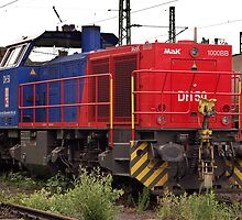 The railroad engine of the class Mak 1000 BB of German Privat railways. by trainmaniac