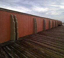 Wall and Board Walk at Jones Beach, NY by SylviaS