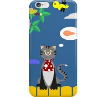 BREAKFAST THE CAT IN A SPRING MORNING BIRDS iPhone Case/Skin
