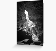 Rock House Window Greeting Card