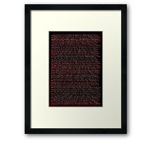Dr Jekyl & Mr Hide: Letter I Framed Print