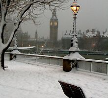 Big Ben in the snow - 2 by Alastair Humphreys
