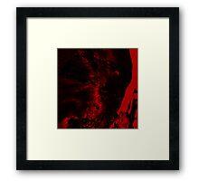 Dissolution Factor Red Framed Print