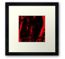 Dissolution Factor Red II Framed Print