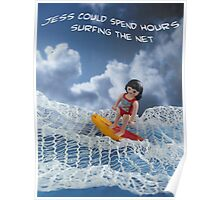 Surfing the net Poster