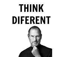 Steve jobs shirt - Think diferent Photographic Print