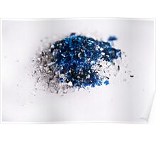 Blue into smashed lens Poster