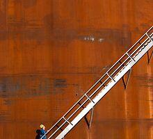 Orange Oil Tank by Marlene Hielema
