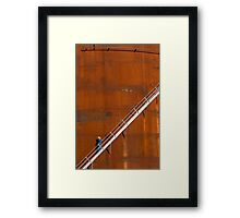 Orange Oil Tank Framed Print