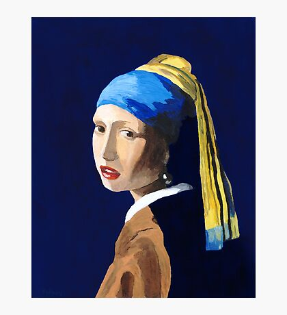 The Girl with a Pearl Earring after Vermeer Photographic Print