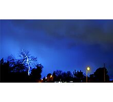 Neighborhood Lightning Strike Photographic Print