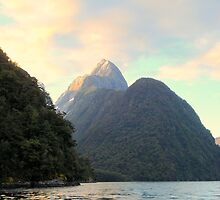 Dawn over Mitre Peak, Milford Sound by cheekybuster