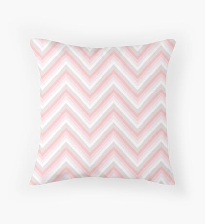 Pretty in Pink Chevrons Throw Pillow
