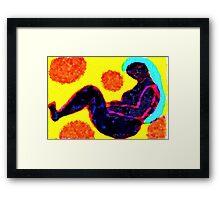 Women Sitting (Amongst Cubes) Framed Print