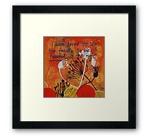 Love the night Framed Print