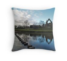 The River Wharfe and Bolton Priory Throw Pillow
